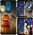 For LG K40 / K12 Plus / Solo Case Hybrid Phone Cover Scary Clown Halloween 2019