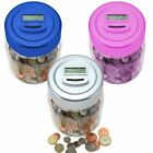 UK Pound LCD Display Digital Coin Counting Jar, Piggy Bank + Memory Function