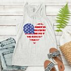 American Flag Women Racer back Tank Patriotic Heart T-shirt Plus size usa