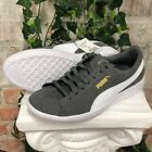Women's PUMA Vikky Suede Casual Sneaker Shoes Grey and White Pick Size