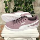 Women's PUMA Vikky Suede Casual Sneakers Shoes Pink Elderberry Pick Size