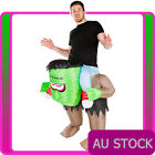 Adult Inflatable Frankenstein Rider Costume Monster Ride Carry Me Mens Blow Up