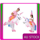 Adult Kids Inflatable Unicorn Rider Costume Ride Carry Me Blow Up Book Week On