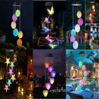 Solar Color Changing LED Wind Chimes Christmas Outdoor Garden Light Lamp Decor