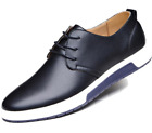 Men's Street Style Casual Leather Shoes in Black