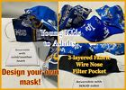 Kids & Adults Los Angeles Rams, LA Dodgers, Los Angeles Chargers Fabric Mask $12.99 USD on eBay