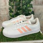 FixedPricenew adidas girls vl court 2.0 k athletic shoes white pink sneakers pick size