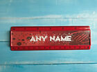 Personalised 15cm ruler - School Company Office - 6 colours - Red background