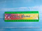Personalised 15cm ruler - School Company Office - 6 colours - Flower Design