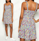 New Look Blue Ditsy Floral Strappy Mini Casual Holiday Summer Dress