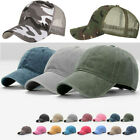 Men Women Baseball Cap Mesh Trucker Hat Tactical Hunting Military Army Camo Hats