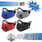 FixedPriceface mask 2 extra carbon filter-reusable washable neoprene air ventilation port
