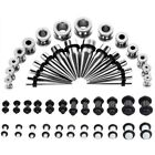 64Pcs Gauges Taper Kit 14G-00G Steel Tunnel Acrylic Plug Ear Stretching Expander