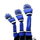 Tour Fit Double Layer Pom Pom Golf Headcover Lined Golf Club Head Cover Knitted