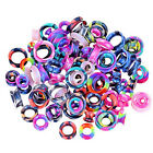 40PCS Silicone Ear Gauges Random Color Soft Earskin Tunnels Plugs Ear Expander