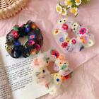 Fashion Women Colorful Hair Rope Embroidery Flower Bands Hair Elastic C4y8