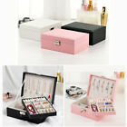 Large Jewellery Box Rings Necklace Earring Storage Organiser Travel Case 2 Layer