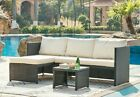 Rattan Garden Furniture Corner Sofa Set Grey Or Black Patio Outdoor Lounge Set