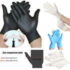 50/100 PE PVC Nitrile Blue Rubber Cleaning Gloves Powder Free Non Vinyl Latex