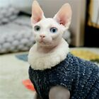 Sphynx Cat Sweater Jumper Waistcoat Clothes Faux Fur Pets Costume Winter Lovely