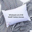 Wholesale Blank Pillow Cover | 12x20 10 oz Soft Cotton Canvas | Lot of 50 Blanks