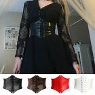 Women  s Waist Cincher Corset Wide Waistband Leather Elastic Tied Waspie Belt New
