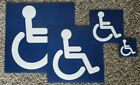 Handicap Sticker Sign **choose Your Size**  Adhesive Vinyl Made In Usa Decal