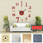 Large 3D Wall Clock Big Watch Decal Stickers Roman Numerals DIY Wall Modern A
