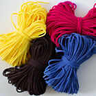 "1/8"" 3mm Round Soft Elastic Cord Pink Yellow Black Diy Making Mask 20 Yards"