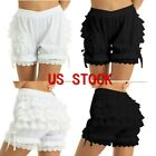 Women Pumpkin Shorts Bloomers Bow Bubble Lace Ruffle Underpants Cosplay Costumes