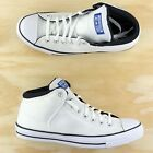 Converse Chuck Taylor All Star Street Hi Top White Black Blue Shoes 163397C Size