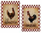 ALL SIZES Laminated Pictures Prints Chicken Rooster Red Checked Border Hen Eggs