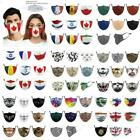 Mouth Protective Filters Adjustable Washable Maple Leaf Canadian Flag Face Masks
