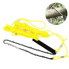 KE_ 24 Inch Portable Hand Rope Chain Saw Tree Cutting Garden Trimmer Tool Grac