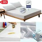 Waterproof Queen King Mattress Cover Pad Hypoallergenic Pure Bed Fitted Sheet US