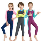 Boys Girls Sun Protection One Piece Swimwear Long Sleeve Surfing Rash Guards 524