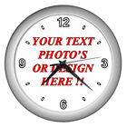 Hot New Personalized Custom Your Logo Design Photo text Wall Clock Free Shipping