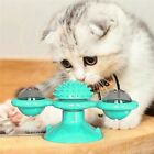 Hair Brush Kitten Play Game Pet Turntable Cat Windmill Toys Whirling Ball