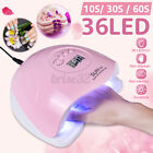 80W UV Gel Nail Lamp Nail Dryer LED UV Light for Gel Polish 3 Timers Nail W
