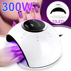 300W 33 LED UV Lamp Nail Dryer Gel Polish Light Quick Drying Curing