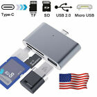 4 in 1 Type C to USB Micro SD/TF SD Memory Card HUB OTG HUB Adapter for Mac US