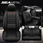 Kyпить Universal Deluxe Leather 5-Seats Car Seat Cover Front Rear Cushion Mat Set US на еВаy.соm