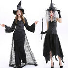 Adult Ladies Gothic Sexy Grim Reaper Death Halloween party Fancy Dress Costume
