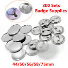 300Sets Metal Button Badge Parts Supplies For Round Pin Maker Machine 44-75mm