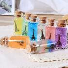 5 Sizes Small Glass Bottles With Cork Stopper Tiny Craft Containers Vials D6c1
