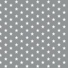 Cotton Classics - Grey - Stars - Small White Star on Grey - 100% Cotton Fabric N