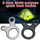 Quick Knot Tent Wind Rope Buckle 3 Hole Antislip Outdoor K7e5