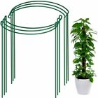 2/4/6PCS Plant Support Stake, Half Round Metal Garden Plant Supports, Green Set