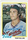 MINNESOTA TWINS AUTOGRAPHED-SIGNED CARDS PLAYERS A-C, MAJOR LG ROSTER YOU CHOOSE on Ebay