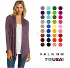 Kyпить Women Solid Long Sleeve Cardigan Open Front Shawl Sweater Wrap Top PLUS USA S-3X на еВаy.соm